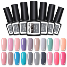 LEMOOC Gel 1 Nail Art Gel 8ML Pure Nail Color UV LED Gel Nail Polish Long-lasting Soak off varnish gel lacquer