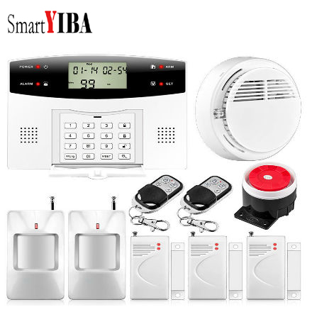 SmartYIBA Free Shipping Wireless GSM Home Burglar Security Alarm System Spanish French English Russian Voice language free shipping hot selling new fashion wireless gsm alarm system 433 mhz 315mhz support english russian spanish language