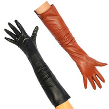 2012 hot-selling genuine leather women's genuine leather long gloves thermal ultra long sheepskin genuine leather gloves