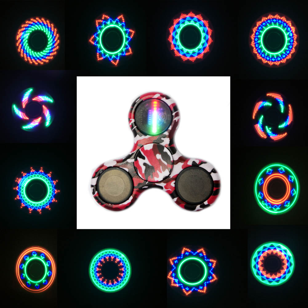 Colorful Spinner LED Tri-spinner HandSpinner finger spinner Toy For Autism and ADHD Anxiety Stress spiner Toy