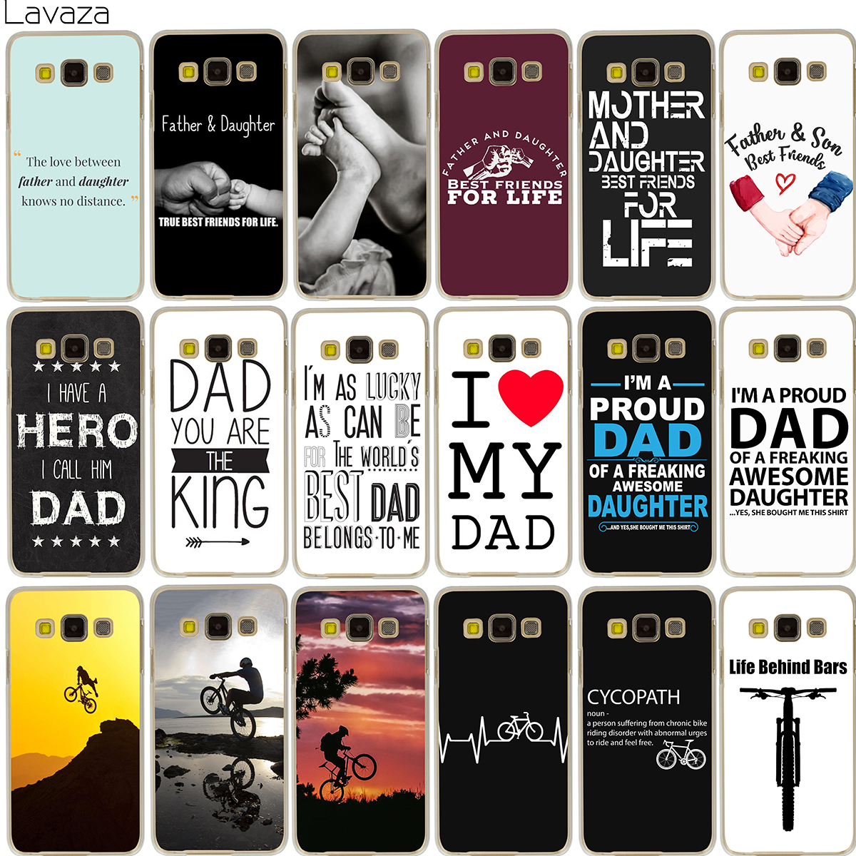 63cfdce13a6 Lavaza Family Daddy And Daughter Son I'm A Proud Dad Case for iPhone XS Max  XR X 8 7 6 6S Plus 5 5S SE