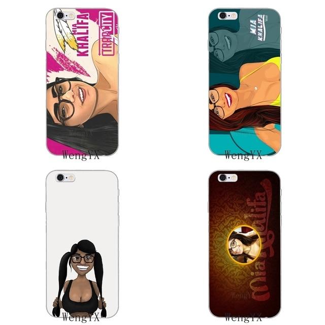 promo code 515d7 7d315 sexy girl Mia Khalifa Slim silicone Soft phone case For iPhone X 8 8plus 7  7plus 6 6s plus 5 5s 5c SE 4 4s