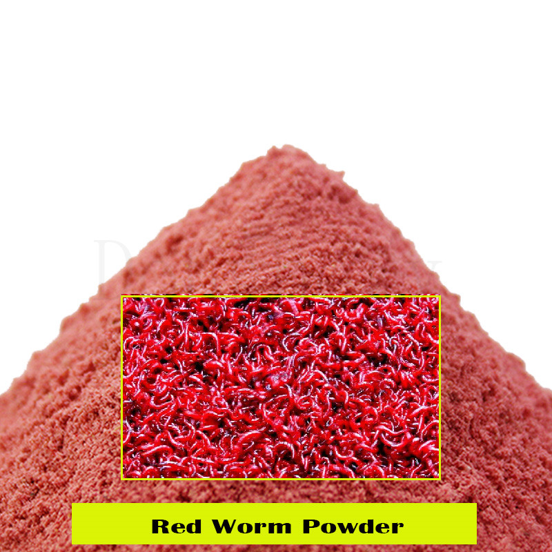 1 Bag 40g Blood Worm Flavor Additive Red Worm Powder Carp Fishing Feeder Bait Boillie Making Material Groundbait image