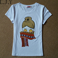 Women Casual Ladies Tops Tees Shirt Cartoon Girl Printed Short Sleeve Tshirts Camisetas y tops