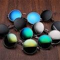 Gafas de Sol redondas Para Mujeres de Los Hombres Marca Diseñador Mirrored Gafas Retro Mujer Hombre Gafas de Sol de Los Hombres de Las Mujeres