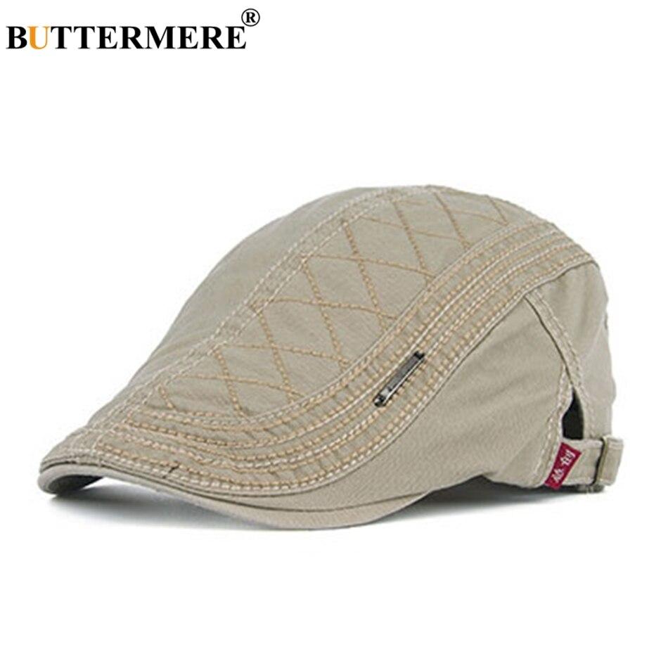 BUTTERMERE Beret Hats Duckbill Ivy-Cap Gatsby Classic Adjustable British Male Cotton