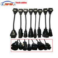 5 lot DHL free Truck CABLE OBD OBD2 Full Set 8 truck Cables Diagnostic Tool Interface Cable For TCS Pro Plus truck Cable