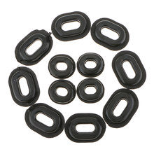 12 Pcs Motorcycle Rubber Grommets Bolt Pressure Relief Cushion Kit For Honda CB CL XL Yamaha Suzuki Fairings Moto Accessories(China)