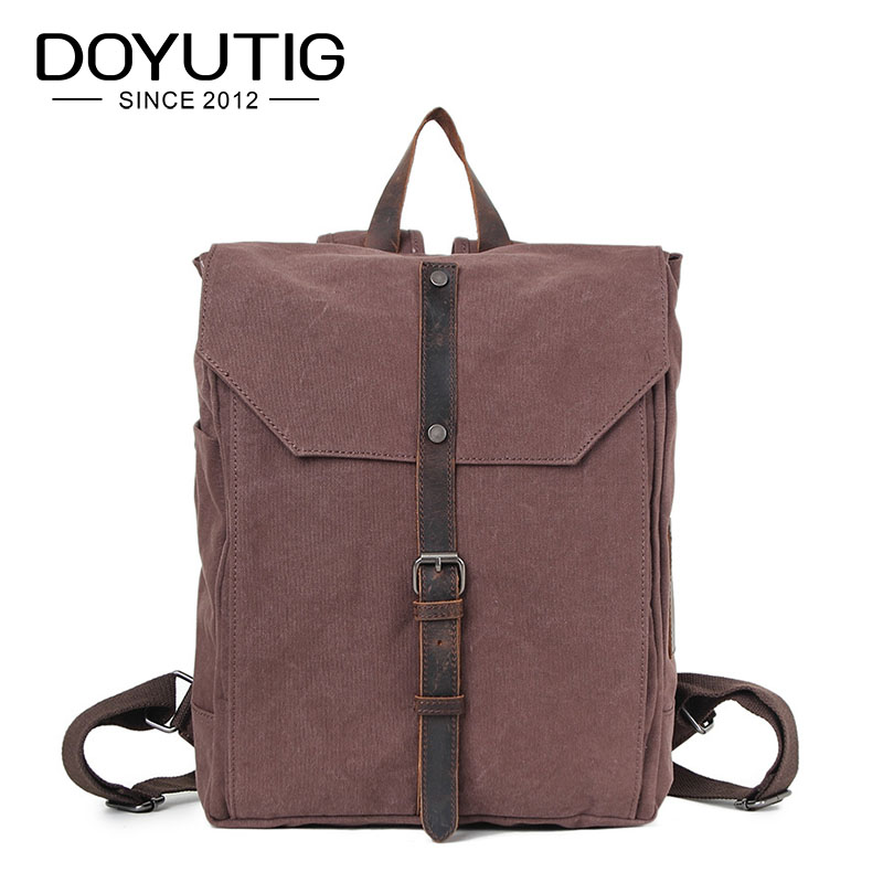 European Design Men Casual Canvas Hasp Rucksack Travel Daypack Vintage College Student School Backpack Bags For Teenagers H033 цены онлайн
