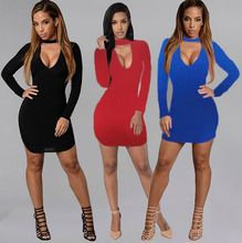 chic women blouse costume female ladies long sleeve solid v-neck sheath sexy club new womens top shirt