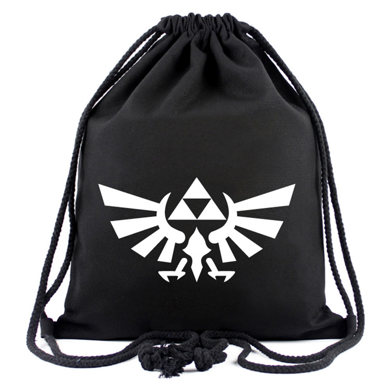 The Legend Of Zelda Drawstring Bags Canvas Backpack Students Boy Girl Organizer Pouch Travel Accessories Portable Drawstring Bag