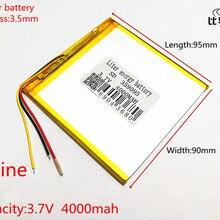 3 линии 3,7 V 4000 mah планшетный аккумулятор gm литий-полимерный аккумулятор 359095 литий-ионный аккумулятор для MP3 MP4