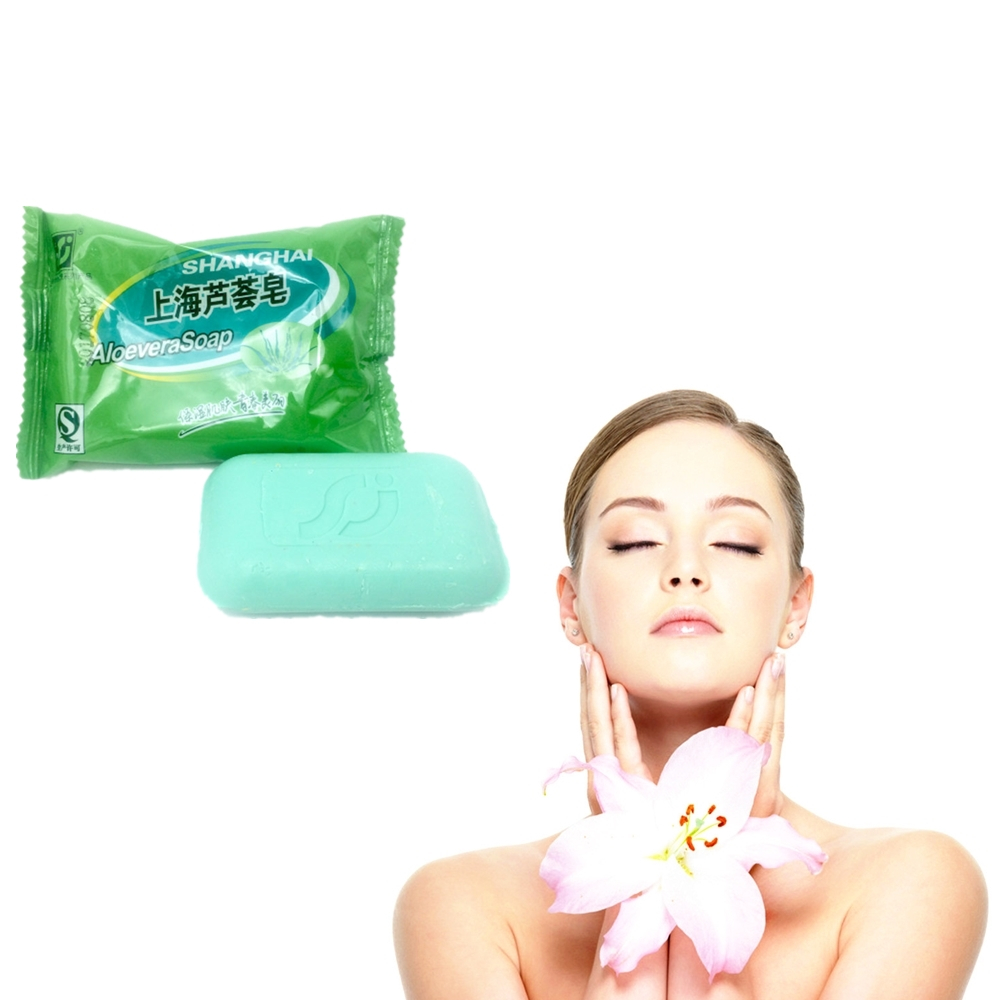 85g Natural ALOEVERA Essential Oil Handmade Soap Acne Treatment Whitening Soap Dispelling Wrinkles Bath Soap Cold Process Soap
