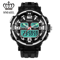 SMAEL Brand Outdoor Men Watch S Style Military LED Watches Dive Waterproof Sports Watches Fashion Electronic