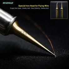 Wozniak лучшая Чистая медь профессиональная основная плата Летающая линия железная головка прецизионная Летающая проволока 900 т железная головка для 936 железа