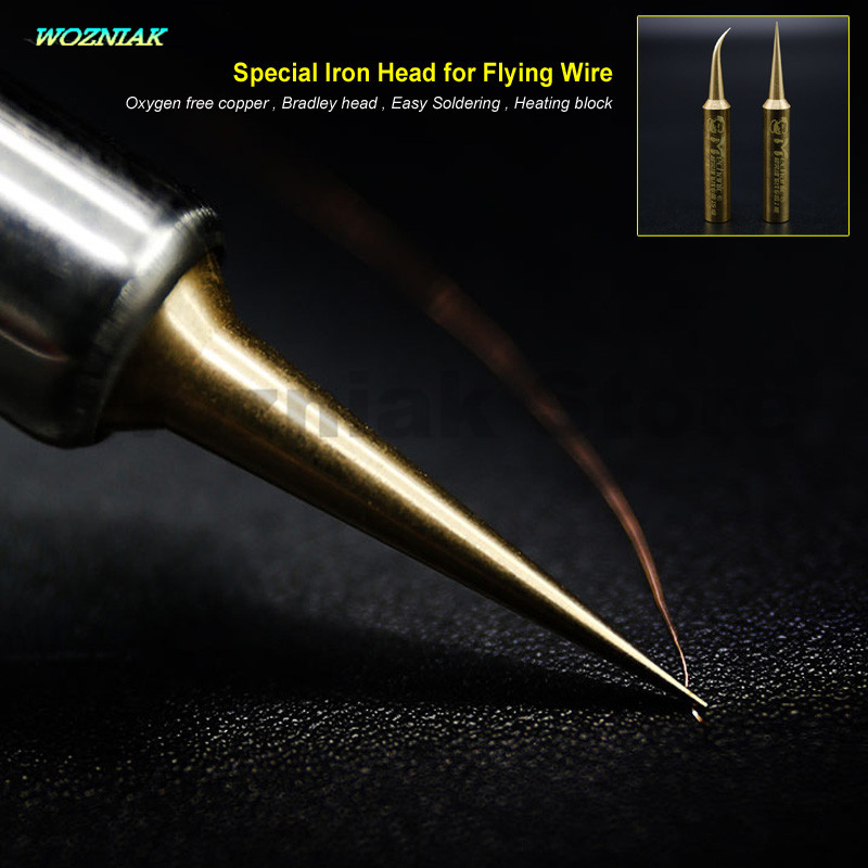 Wozniak Best Pure Copper Professional Main Board Flying Line The Iron Head Precision Flying Wire 900T Iron Head For 936 Iron