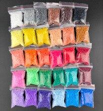 500 개/가방/가방 Perler PUPUKOU 비즈 2.6mm 하마 비즈 어린이를위한 교육 지그 소 퍼즐 DIY 완구 퓨즈 비즈 Pegboard