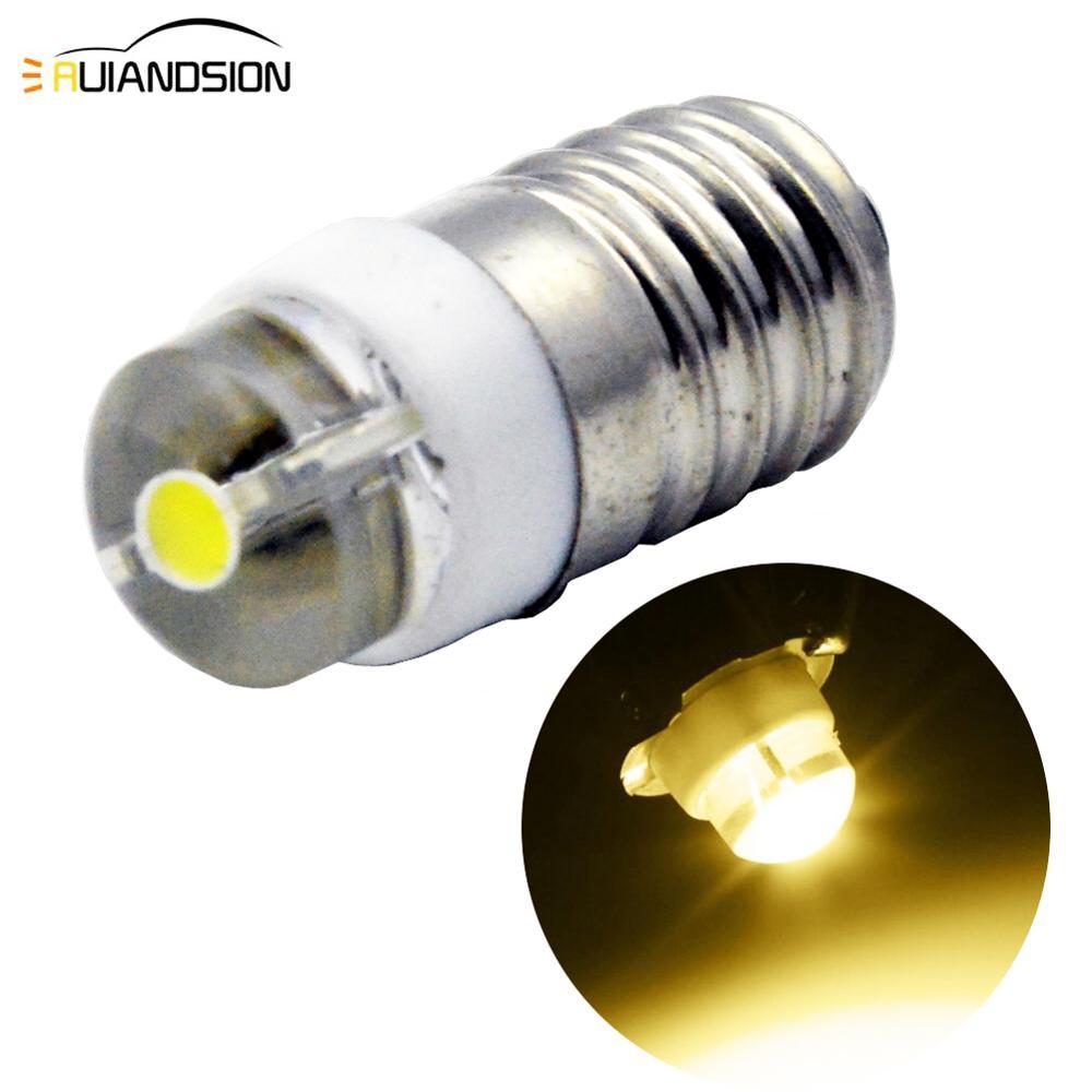 1piece 0.5w E10 3v 4.5v 6v 3-18V 5-24V COB LED Flashlight Torch Bulbs Led Flashlight Bulb Light Head Lamp Bulb 3000K 6000K