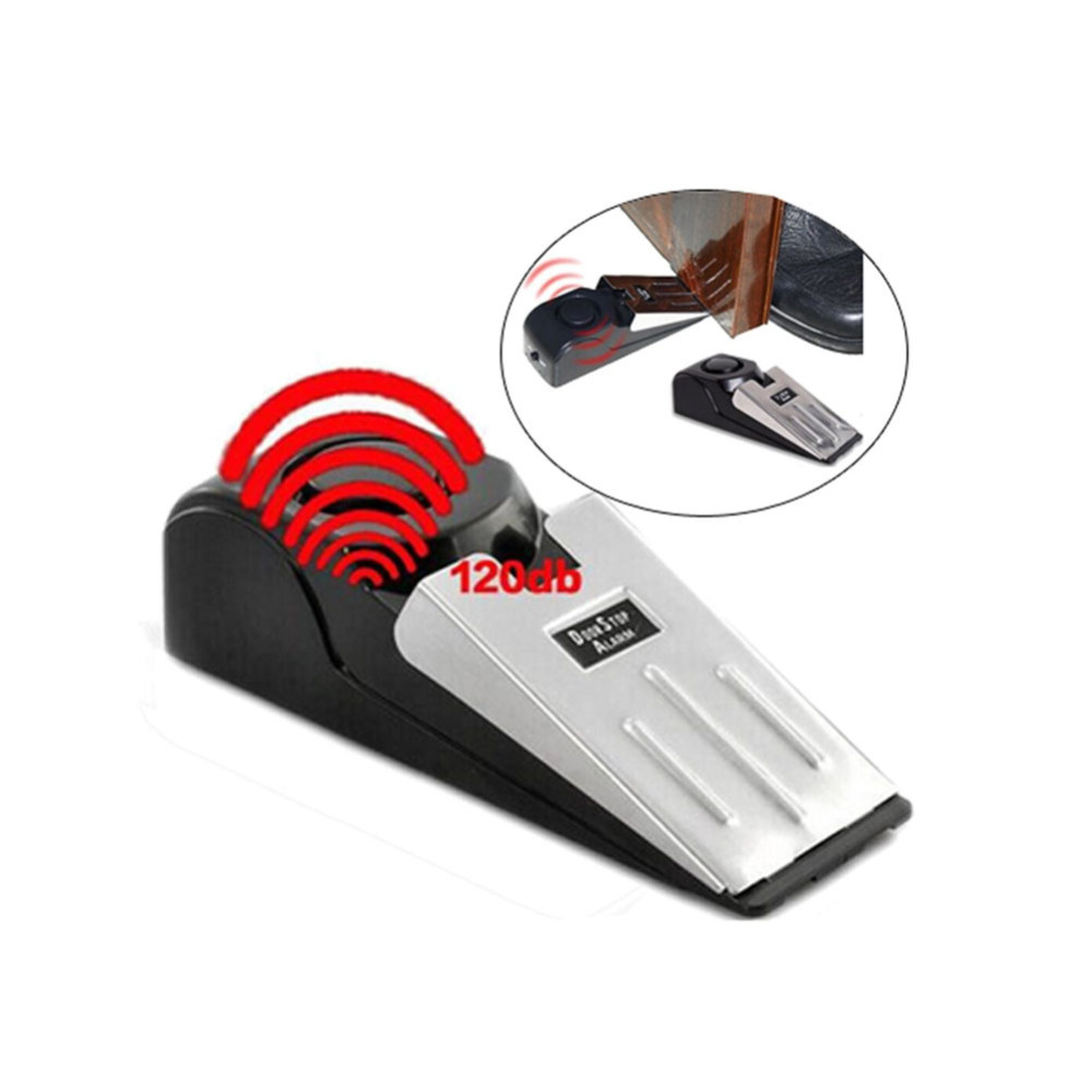 120dB Door Stop Alarm Wireless Home Travel Security System Portable Safety Wedge Alertfor Home Stopper Alert Security Block