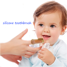 Baby Kids Silicone Toothbrush Finger  Children Teeth Clear Gum Brush Infant Deciduous Tooth Brush  Massage Children's ToothBrush