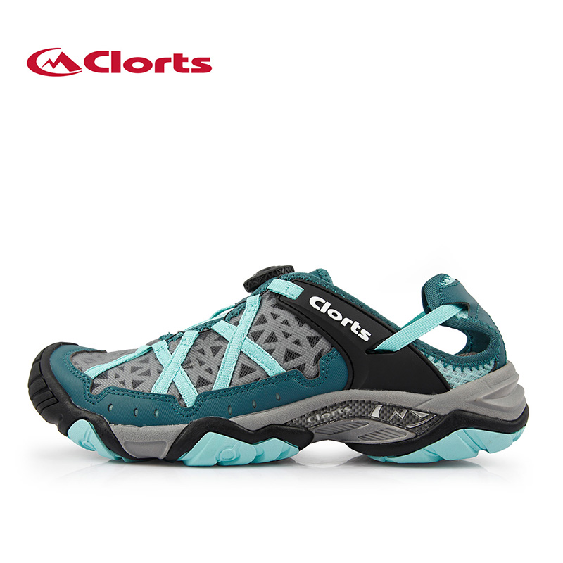 ФОТО Clorts BOA Lacing Women Outdoor Wading Shoes Breathable Summer Upstream Shoes Beach Sandals Cool Mesh Shoes 3H017B/C