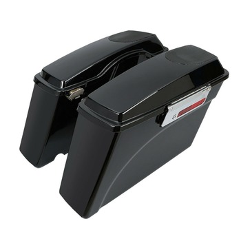 "Hard Saddlebags Saddle Bag W/ 5x7"" Speaker Lids For Harley Touring FLT FLHT FLHTCU Road King Glide 1993-2013"