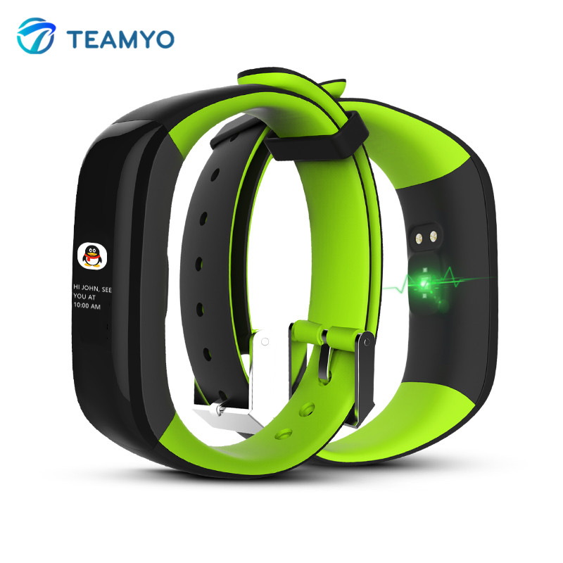 Teamyo P1 Smart Bracelet with <font><b>Full</b></font> Touch <font><b>Color</b></font> Display Blood Pressure Watch Heart Rate Monitor Smartband wristband Step Counter
