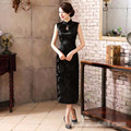 Brand New Elegant Flower Chinese Women Cheongsam Silk Satin Long Halter Qipao Vintage Slim Dress S M L XL XXL XXXL