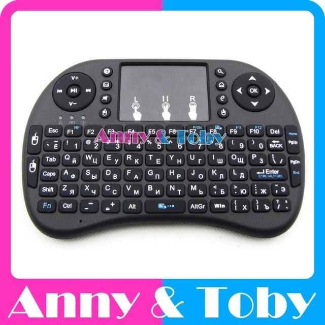 Английский или русский мини 2,4 г Raspberry PI 3 Беспроводная Клавиатура Fly Air Мышь с тачпадом для ТВ коробка Планшетные ПК Ras PI2 банан PI