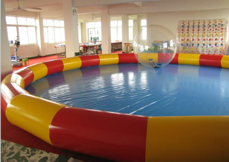 Inflatable pool outdoor large type swimming pool size 5 10 for Large size inflatable swimming pool