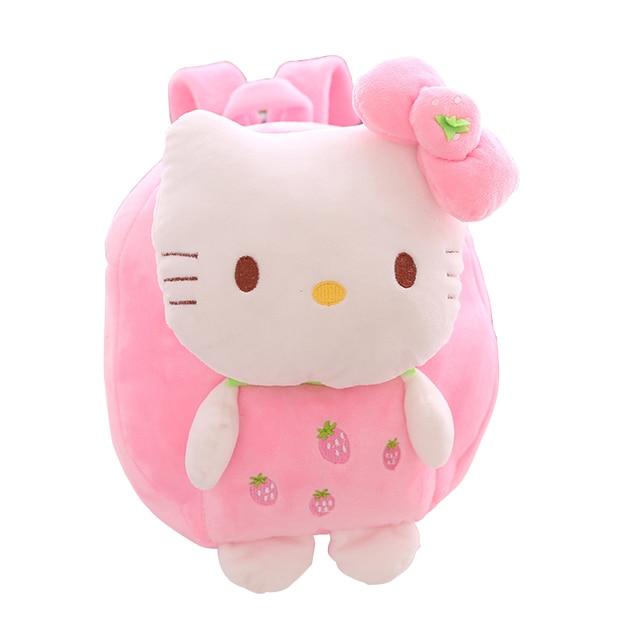 Cute 3D Hello Kitty Plush Kids Backpack Children's School  Bag Cartoon Kindergarten Student Schoolbag Kids Satchel