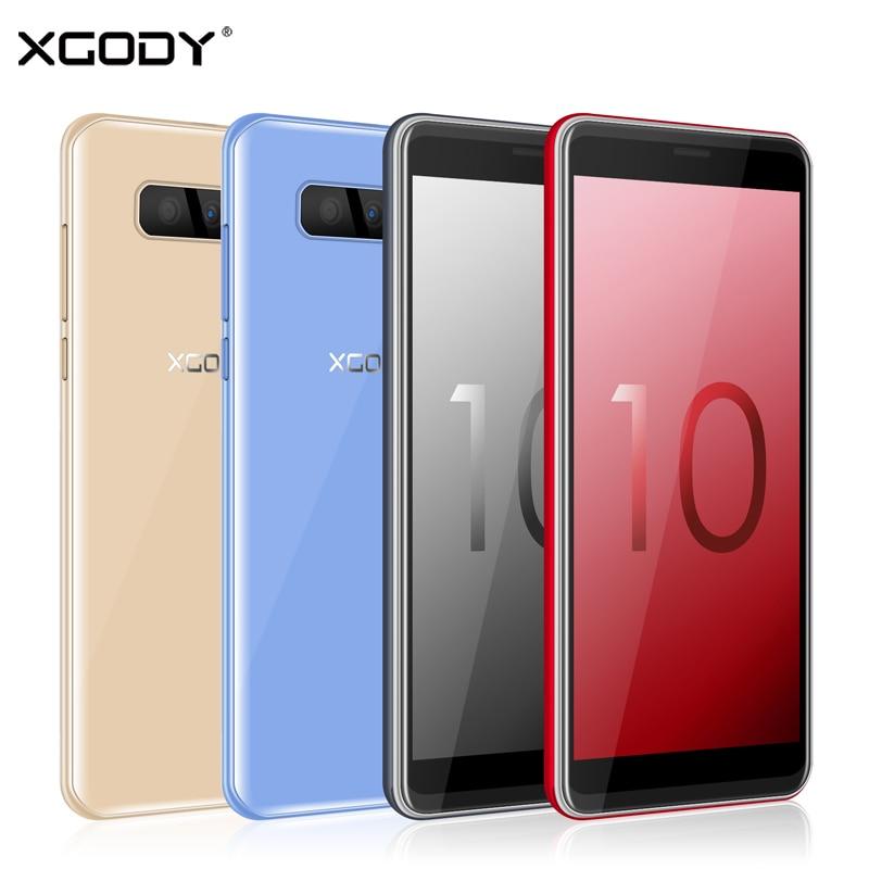 XGODY S10 3G Dual Sim Smartphone Android 8.1 5.5 Inch 18:9 Mobile Phone 2GB RAM 16GB ROM MTK6580 Quad Core 5MP 2500mAh Cellphone