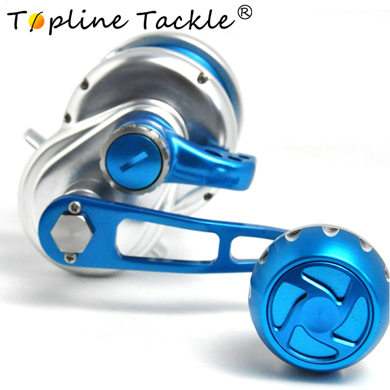 Topline Tackle 2018 TC300 500 CNC slow jigging reel boat reel 30kgs left/right handle saltwater reel trolling reel