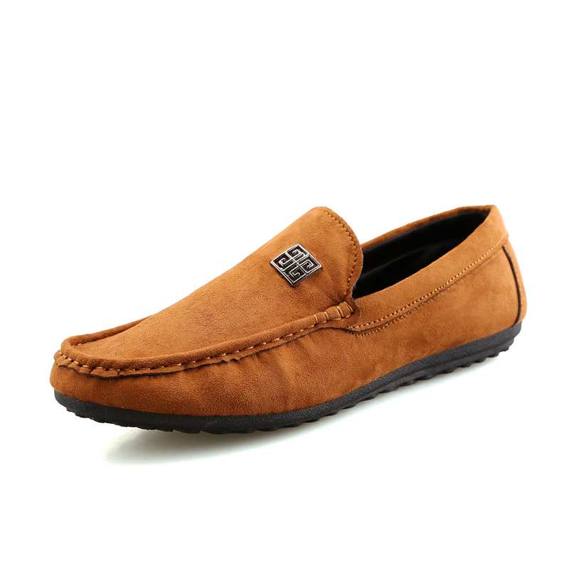 ФОТО 2017 Man Shoes Walking Ventilation Casual Male Men Sapato Masculino Bottom Flock Slip Driving Moccasin Loafer Flat Shoes Gc106