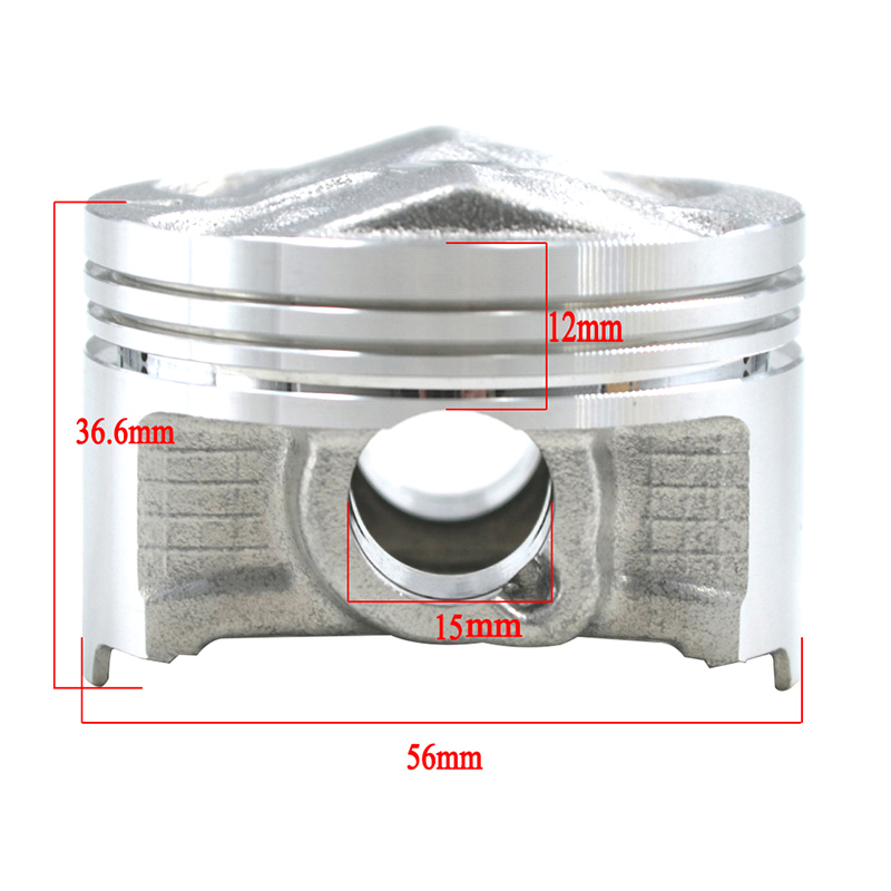 STD +<font><b>25</b></font> +50 56mm 56.25mm 56.5mm 56.75mm 57mm motorcycle engine piston rings for Yamaha FZ400 1997 1998 1999 image