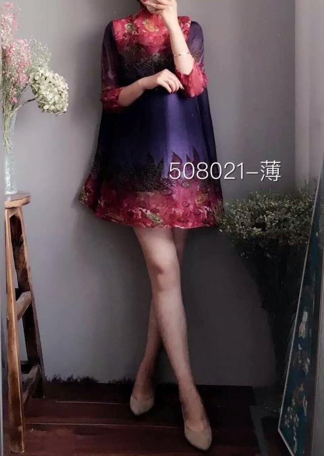 Lâche Gratuite Et Femmes Impression Taille Plie Un Robes Type Miyake Longue 3 Livraison 2 Plis Robe Grande 1 6zqY4t