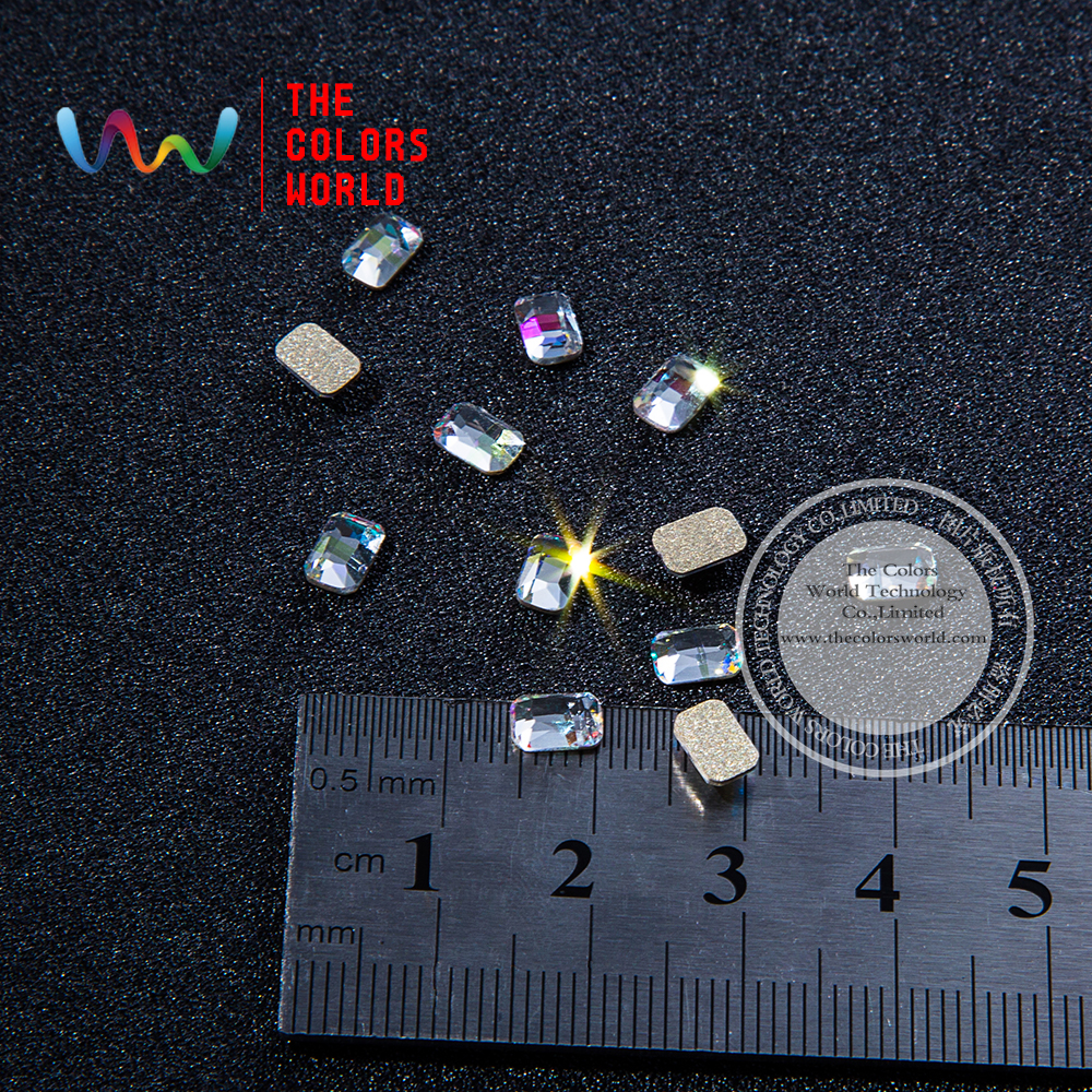 003 3D 4*6MM Rectangle Shape Clear Glitter Shinny Crystal Diamond for Nail Art Rhinestones Decorations DIY diysecur 4pin dc12v 24v 7 inch 4 split quad lcd screen display rear view video security monitor for car truck bus cctv camera