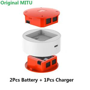 for MiTu 2 Pcs 920 mAh Battery + Charger for Xiaomi MiTu Drone Battery Charging Accessories