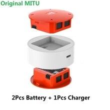 במלאי עבור MiTu 2Pcs 920mAh סוללה + מטען עבור Xiaomi MiTu Drone סוללה טעינת אביזרי 100% מקורי חלקי חילוף