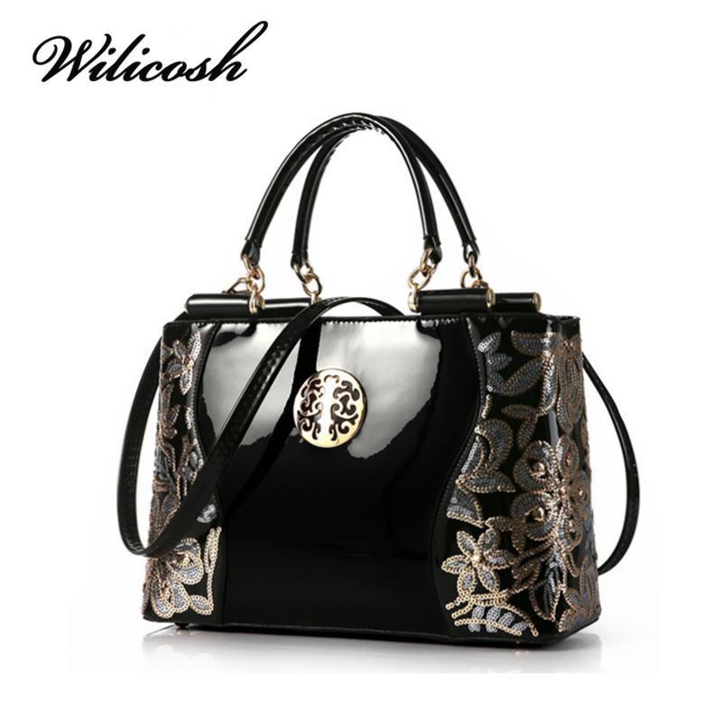 Wilicosh Brand PU Women Leather Bag Famous Designer Top-Handle Handbag Women Mes