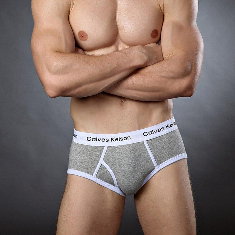 CalvesKelson 7Pcs lot Breathable Patchwork Comfy Men s Underwear New 2019 Briefs Men Cotton Mens Male