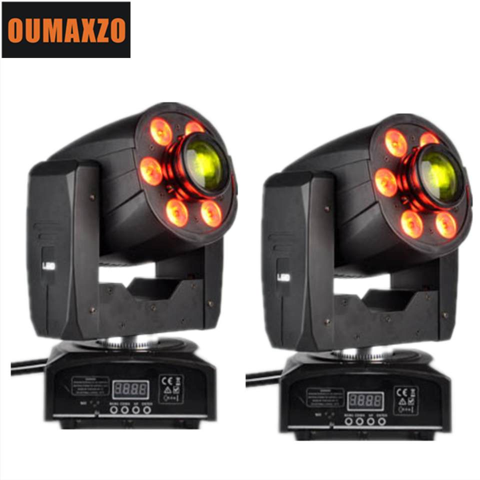 2XLOT 95W Led Moving Head Zoom Light 30W Gobo/Color Wheel 6x8W Wash RGBW 4IN1 Color Mixing Leds Surround Head Moving Head 30W