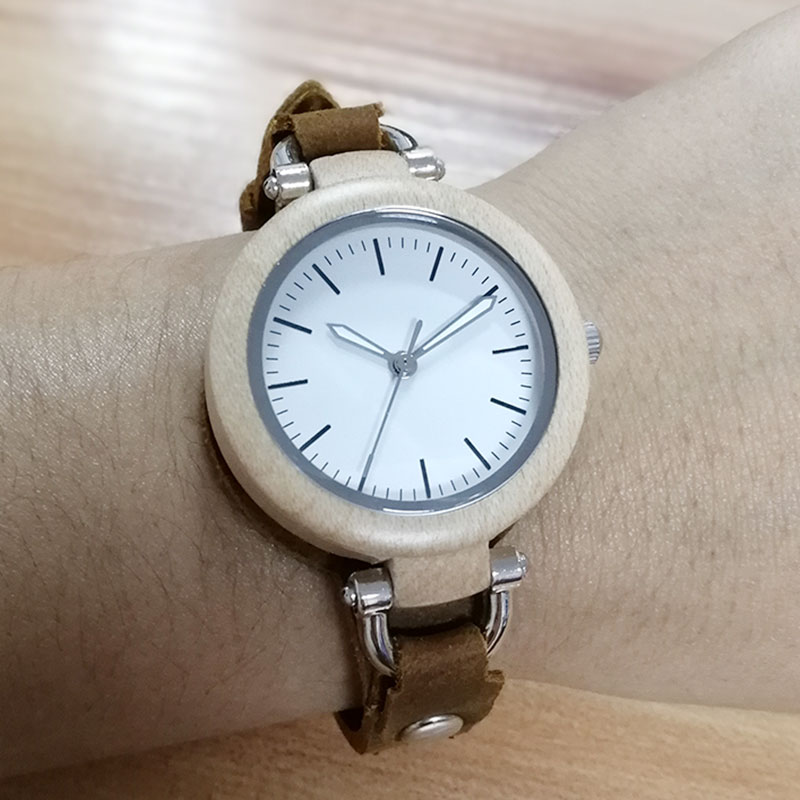 9e8af84a36d SIHAIXIN Lady Casual Vogue Design Small Bracelet Women Wooden Quartz Watches  Top Brand Luxury Girl Hand Clock Birthday Gift 2018-in Women s Watches from  ...