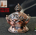 Tibetan Lotus Incense Burner 7.8*7.2*6.0cm Alloy Bronze Mini Incense Burner Incensory Metal Craft Home Decor Free Shipping