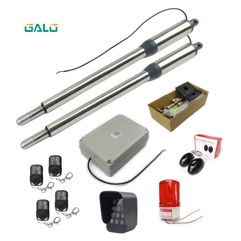 GALO sell well all over the world Antifreezing Automatic Gate Opener for 300kg Heavy Duty Dual Swing Gates galo heavy duty 1400lbs 600kg electric