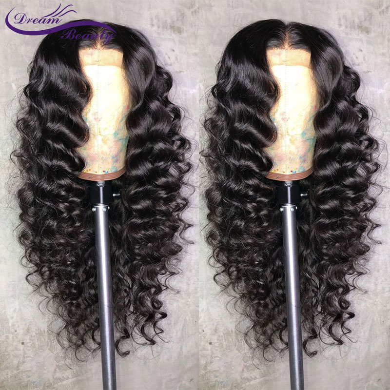 13x6 Lace Front Human Hair Wigs With Baby Hair Pre Plucked Hairline Brazilian Remy Body Wave Lace Human Hair Wigs Dream Beauty(China)