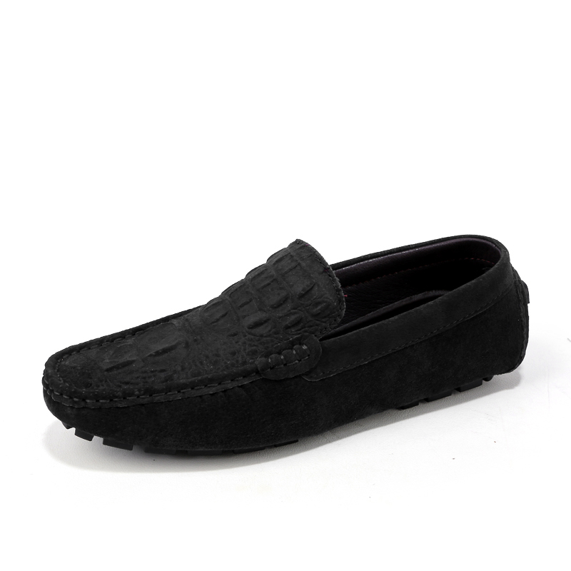 Taille Casual Glissement Mens bleu En 46 Hommes gris Mode 38 Mocassins Conduite Cuir Noir Sur kaki Plus De Klywoo Marque Bateau Chaussures 5wqYpY