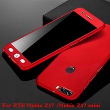 Для ZTE Нубия Z17 случае 5.5 «360 градусов защищены всего тела телефон чехол для Нубия Z17 мини Z17mini случае противоударный чехол + стекло фильм