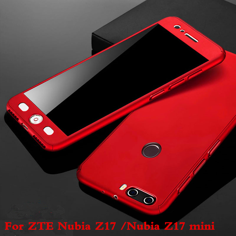 For ZTE Nubia Z17 Case 5.5360 Degree Protected Full Body Phone Case for Nubia Z17 mini Z17mini Case Shockproof Cover+Glass Film