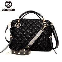 Woman Handbag Leather Big Capacity Shoulder Bags High Quality Lace Embroidery Totes Women Messenger Bag Sac